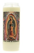 Veilleuse neuvaine à Notre-Dame de Guadalupe