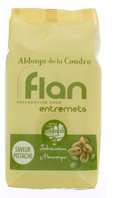 Flan, préparation pour entremets - saveur Pistache