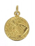 Médaille saint Joseph (plaqué or)