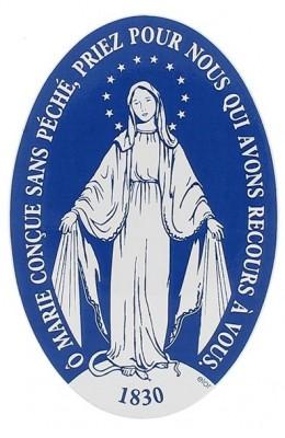 Notre-Dame de la médaille miraculeuse (autocollant)