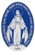 Notre-Dame de la médaille miraculeuse (autocollant pour pare-brise)