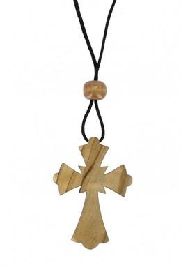 Croix A1 byzantine olivier cordon 5 cm