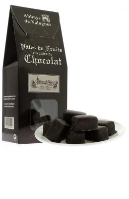 Pâtes de fruits enrobées de chocolat 250g