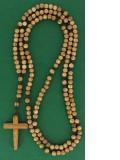 Rosaire en bois d'olivier —  (quinze dizaines)