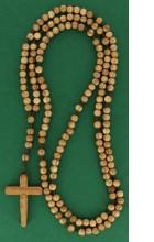 Rosaire en bois d'olivier   (quinze dizaines)